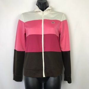 Lacoste Sport pink color block Track Jacket